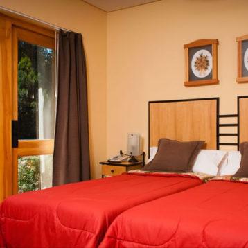 Habitación Doble Twin con Deck - Hostería Antuquelen
